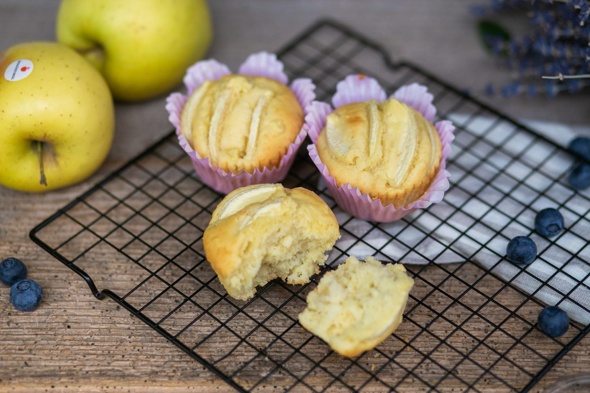 Muffins alle mele bio con Golden Delicious